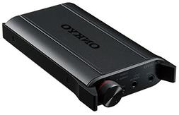 ONKYO portable headphone amplifier DAC equipped with Black D