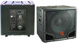Mr. Dj PRO-SUB15BT 15-Inch 5400W max  BLUETOOTH Self-Powered