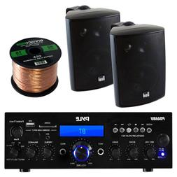 Pyle PDA6BU Amplifier Receiver Stereo, Bluetooth, FM Radio,
