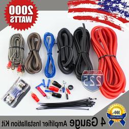 Red 4 AWG Gauge Amplifier Installation Wiring Complete Kit +