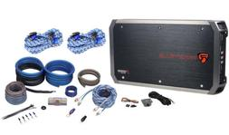 Rockville RXH-F5 1600W RMS 5 Channel Car Amplifier + Amp Kit