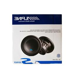"""Alpine S-W10D4 S-Series 10"""" subwoofer with dual 4-ohm voice"""