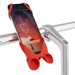 Bike Phone Mount Holder with Sound Amplifier, Bicycle Handle