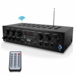 Bluetooth Home Audio Amplifier System - Upgraded 2018 6 Chan