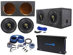 "Rockville W10K9D2 10"" 6400w Subwoofers+Sealed Sub Box+Mono"
