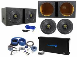 "Rockville W12K9D2 12"" 8000w Subwoofers+Vented Sub Box+Mono"