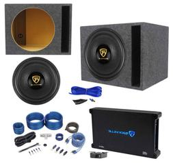 "Rockville W15K9D4 15"" 5000w Car Subwoofer+Vented Sub Box+Mon"