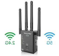 WiFi Extender Repeater for 2.4 and 5G 1200Mbps WiFi Signal B